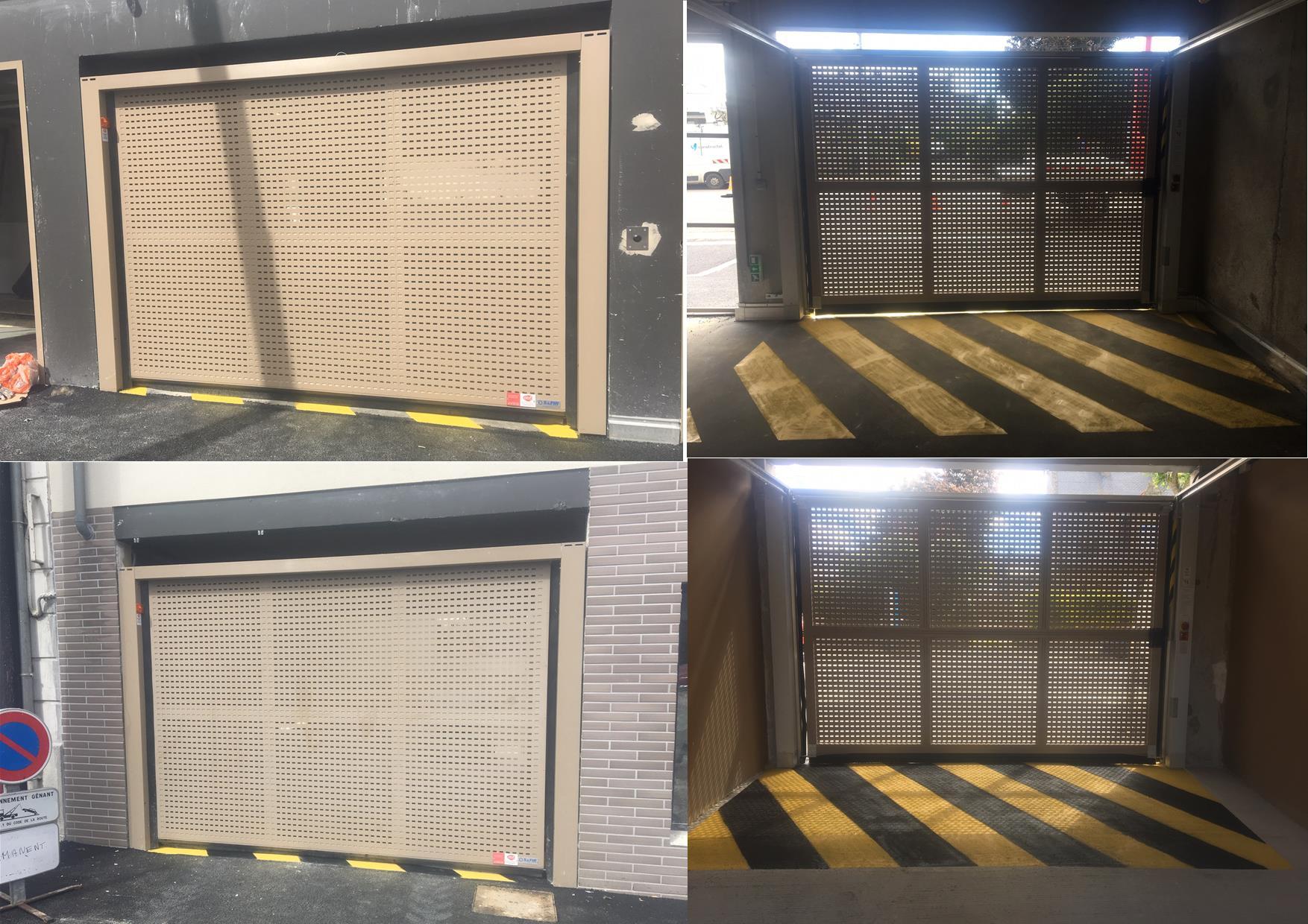 [SUR-MESURE] AMBRE – 2 portes automatiques de garage SAFIR