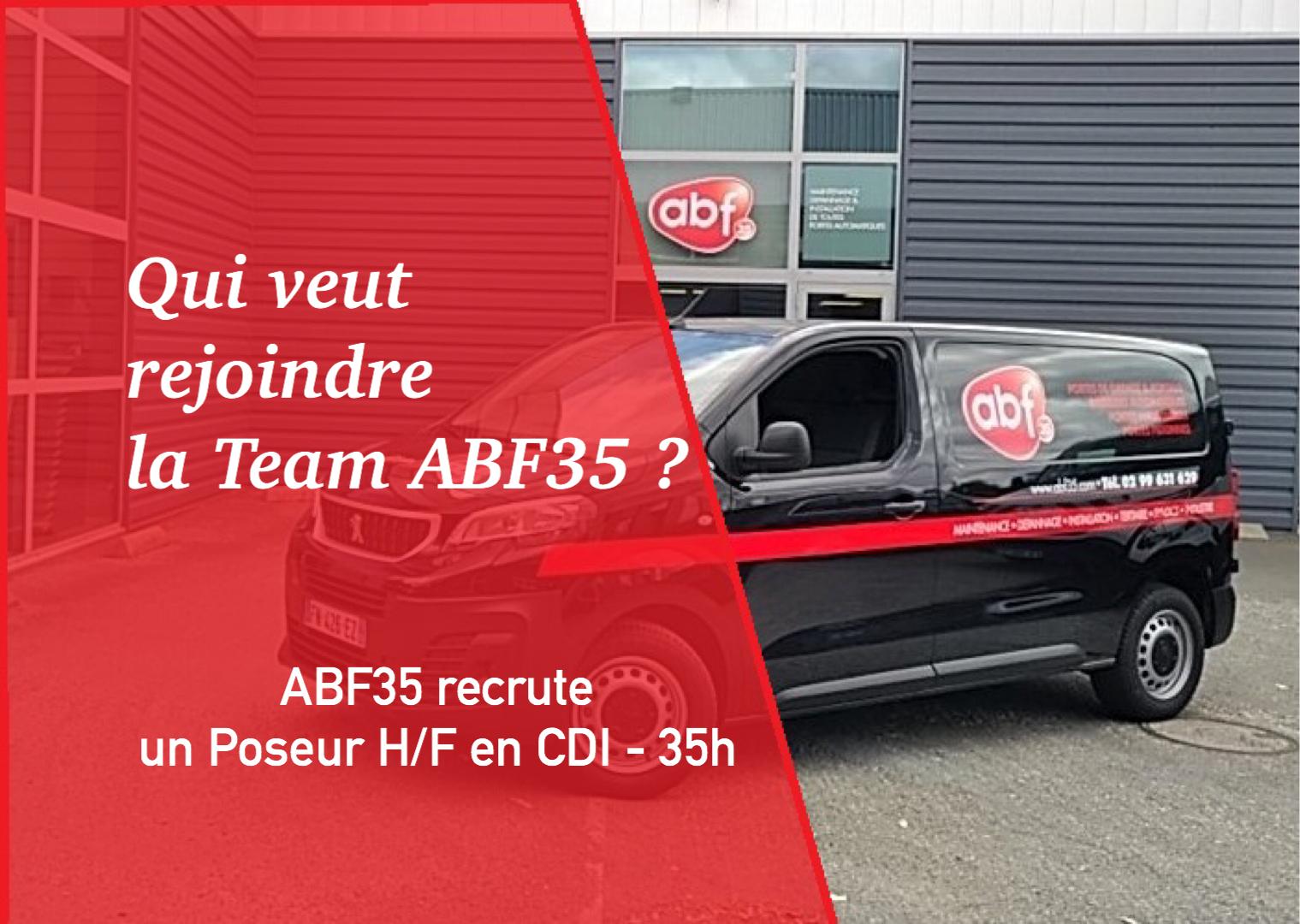 [RECRUTEMENT] ABF35 recrute un poseur H/F