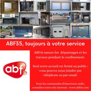ABF35 assure la continuité de ses services pendant le confinement