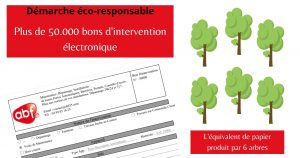 [Digitalisation] 50.000ème bon d'intervention électronique
